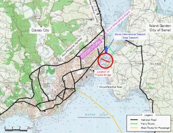 map davao-samal bridge